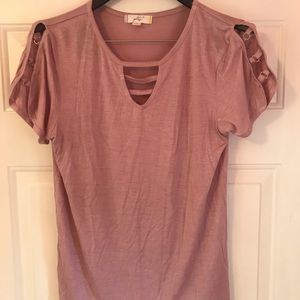 Glitz Juniors XL short-sleeved pink shirt